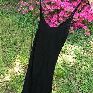 Vintage Black Strap Dress by Ganesh size L